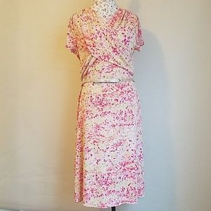 Jones New York print wrap Women dress size/XL